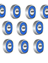 608r 21mm x 7mm 금속 차폐 된 방사형 볼 베어링 깊은 홈 볼 베어링 fidget 회 전자 장난감 --- 10 pc