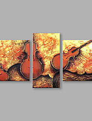 Недорогие -Ручная роспись Люди Любые формы, Абстракция Модерн холст Hang-роспись маслом Украшение дома 1 панель