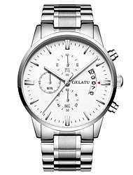 Men's Sport Watch Fashion Watch Japanese Quartz Calendar Water Resistant / Water Proof Alloy Band Silver