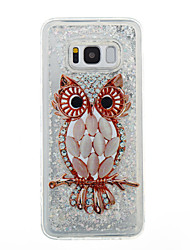 cheap -For Samsung Galaxy S8 Plus S8 Phone Case Owl Pattern Flowing Liquid Glitter Soft TPU Materia S7 edge S7 S6 edge S6 S5