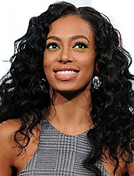 Short Natural Wave Lace Wig 360 Cap Style 150% Density Human Virgin Hair Black Color Wig with Baby Hair For Black Women