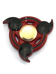 Fidget Spinner Inspirado por Naruto Sasuke Uchiha Animé Accesorios de Cosplay Cromado