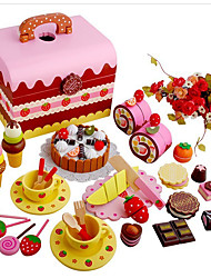 cheap -Toy Food / Play Food Pretend Play Cake Wood Girls' Kid's Gift 1pcs