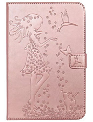 cheap -For Case Cover Card Holder Wallet with Stand Flip Embossed Full Body Case Sexy Lady Cat Butterfly Hard PU Leather for iPad (2017)  pro 9.7 air2 air 2