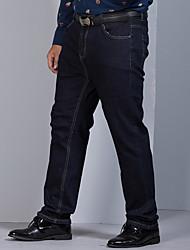 cheap -Men's Plus Size Straight Jeans Pants - Solid