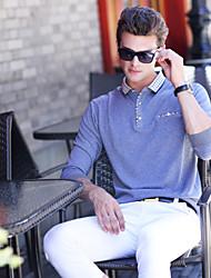 Masculino Camisa Social Casual Simples Primavera Outono,Sólido Algodão Colarinho de Camisa Manga Longa