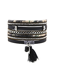 cheap -Women's Leather Bracelet Jewelry Vintage Bohemian Turkish Fashion Leather Rectangle Jewelry Christmas Gifts Wedding Party Special
