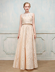 economico -A tubino Con decorazione gioiello Lungo Misto cotone Serata formale Vestito con di SG