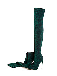 cheap -Women's Shoes Customized Materials Fall Fashion Boots Boots Stiletto Heel Pointed Toe Thigh-high Boots for Dress Burgundy Blue Army Green