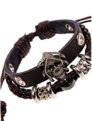 cheap -Men's Leather Bracelet Jewelry Natural Fashion Leather Alloy Irregular Jewelry For Special Occasion Gift Sports