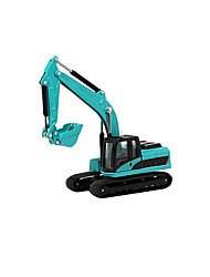 Push & Pull Toys Toy Cars Toys Construction Vehicle Excavator Wheel Excavator Toys Simulation Excavating Machinery Metal Alloy Chrome