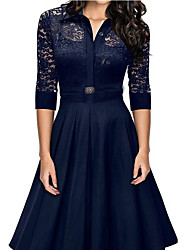 cheap -Women's Daily Simple A Line Lace Dress