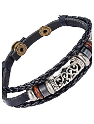 cheap -Men's Leather Bracelet - Leather Natural, Fashion Bracelet Black For Special Occasion / Gift / Sports
