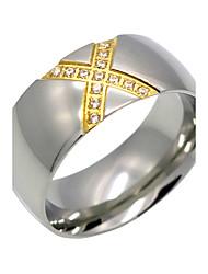 cheap -Men's Women's Ring Personalized Geometric Euramerican Fashion Crossover Double-layer Rock Cubic Zirconia Titanium Steel Geometric Costume