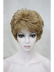cheap -Fashion Curly Light Strawberry Blonde Short Synthetic Hair Full Women's  Wig For Everyday