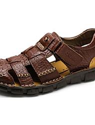 Camel Men's Daily Leisure Comfort Sandal Close Toe Beach Shoes Color Khaki/Dark Brown