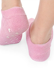Women Pink Moisturizing Soften Repair Cracked Foot Skin Treatment Gel Spa Socks Foot Care Stretchable