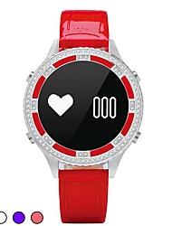 Femme Smart Watch Montre Tendance Montre Bracelet Montre Diamant Simulation Chinois NumériqueLED Télécommande Moniteur de Fréquence