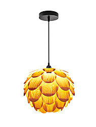 E14/E27 A-02 Modern LightsLayered Wood Artichoke Ceiling Pendant Light Pendant Lampshade