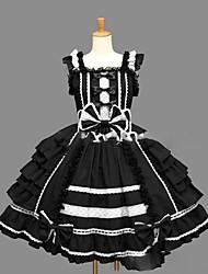 billiga -Prinsessa Gotisk Lolita Dam Flickor jsk / Jumper Kjol Cosplay Svart Balklänning Holk Ärmlös Kort / mini Plusstorlekar Anpassad Kostymer