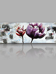 IARTS®Hand Painted Purple and Red Flowers Oil Painting with Stretched Frame For Home Decoration