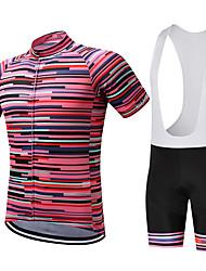 economico -SUREA Maglia con salopette corta da ciclismo Per uomo Manica corta Bicicletta Set di vestiti Asciugatura rapida Traspirante Compressione