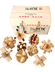 cheap -Wooden Puzzles IQ Brain Teaser Kong Ming Lock Luban Lock IQ Test Wooden Unisex Gift