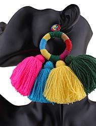 economico -Per donna Orecchini a cerchio Misto lino/cotone Rotondo Gioielli PerMatrimonio Feste Occasioni speciali Compleanno Da sera Party/serata