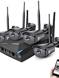 preiswerte -jooan® 4ch Wireless nvr Kit 1080p Outdoor Nachtsicht 2.0mp IP Kamera cctv System