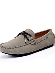 Men's Loafers & Slip-Ons Light Soles Suede Casual Walking Flat Heel Khaki Red Dark Grey Dark Blue Black Walking Shoes