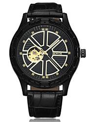 cheap -Men's Sport Watch Dress Watch Skeleton Watch Fashion Watch Wrist watch Chinese Large Dial Genuine Leather Band Vintage Stripe Charm Cool