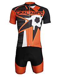 cheap -ILPALADINO Men's Short Sleeves Cycling Jersey with Shorts Skull Bike Clothing Suits, Quick Dry, Ultraviolet Resistant, Reflective Strips,