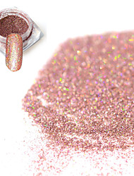 cheap -0.2g/bottle Fashion Sweet Style Bare Pink Shining Pigment DIY Charm Decoration Nail Art Laser Glitter Holographic Fine Powder  JX15