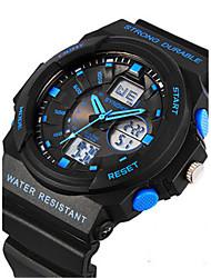 Men's Fashion Watch Digital Watch Digital Rubber Band Black
