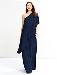 Women's Off The Shoulder Vintage Loose DressSolid Asymmetrical Maxi / Knee-length Long Sleeve