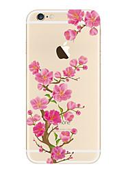 Недорогие -Кейс для Назначение iPhone 5 Apple Прозрачный С узором Кейс на заднюю панель Цветы Мягкий ТПУ для iPhone SE/5s iPhone 5