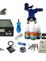 abordables -Machine à tatouer Kit pour débutant - 1 pcs Machines de tatouage avec 1 x 5 ml encres de tatouage LCD alimentation Case Not Included 1 x