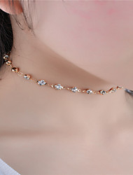 Women's Choker Necklaces Crystal Rhinestone Jewelry Rhinestone Fashion Personalized Euramerican Simple Style Costume Jewelry Jewelry For