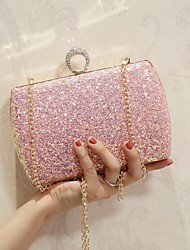 cheap -Women's Bags PU(Polyurethane) Shoulder Bag Rhinestone White / Blushing Pink