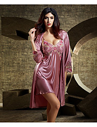 cheap -Women's Suits Nightwear,V-neck Thin Polyester Blue Red Blushing Pink Purple Fuchsia