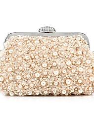 cheap -Women's Bags Polyester Coin Purse Rhinestone / Sequin / Pearls Champagne / White / Black