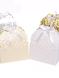 Others Card Paper Favor Holder With Ribbons Favor Boxes-25 Wedding Favors