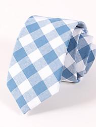 cheap -Men's Casual Fashion Personality Lattice Cotton Tie