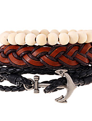 cheap -New National Wind Anchor Bead Beaded Multilayer Woven Bracelet