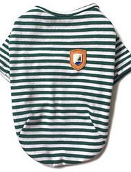preiswerte -Hund T-shirt Hundekleidung Streifen Schwarz Rot Grün Baumwolle Kostüm Für Haustiere Herrn Damen Lässig/Alltäglich