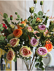 cheap -1  Bunch French Romantic Rose Artificial Flowers Home Decoration