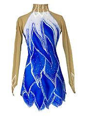 Недорогие -Одежда для фигурного катания Жен. Девочки Катание на коньках Юбки Платья Эластичность Фигурное катание платье Сохраняет тепло Ручная