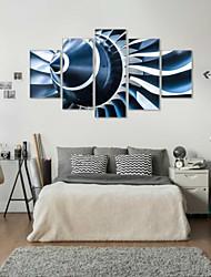 baratos -Estampados de Arte Abstrato Modern,5 Painéis Horizontal Estampado Decoração de Parede For Decoração para casa