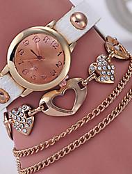 cheap -Women's Bracelet Watch / Simulated Diamond Watch Casual Watch Alloy Band Fashion / Elegant Black / White / Blue