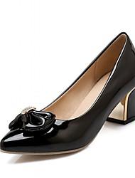 Feminino Sapatos Couro Ecológico Primavera Verão Outono Conforto Inovador Saltos Caminhada Salto Grosso Dedo Apontado Laço Para Social